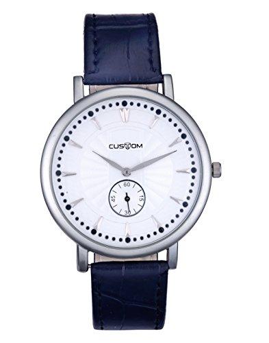 Zeus White Dial Analogue Custom Series Smart Casual Wear Men's Watch