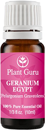 Geranium Egypt Essential Oil. 10 ml. 100% Pure, Undiluted, Therapeutic Grade.
