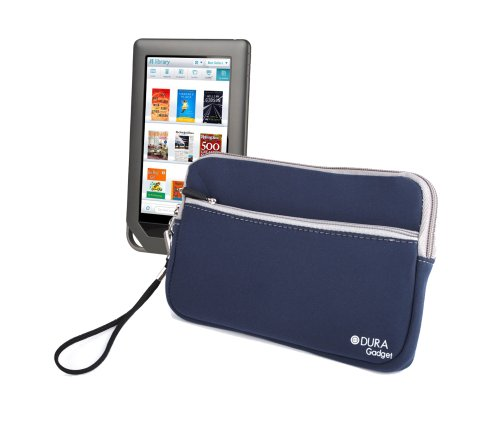 Classic Blue eReader Sleeve With Front Pouch For Nook Simple Touch Reader, 1st Edition & Simple Touch With GlowLight