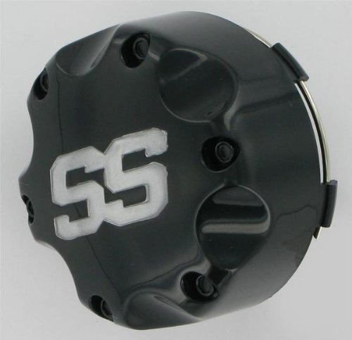 ITP SS Alloy SS112 Sport Wheel Center Cap - 4/110 and 4/115 Bolt Pattern - Black , Material: Alloy B110SS