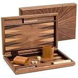 """15"""" Fancy Walnut Backgammon Set"""