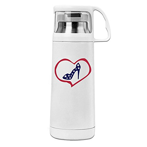Beauty Heart Woman's High Heel Shoes 2 Water Bottle With A Handle Vacuum Insulated Cup For Hot And Cold Drinks Coffee,Tea Travel Thermal Mug,14oz White (High Heel Insulated Cup compare prices)
