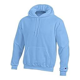 Champion Double Dry Action Fleece Pullover Hood - Medium, Light Blue
