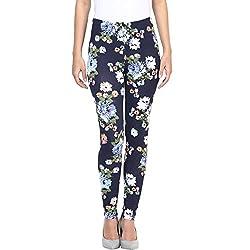 Honey by Pantaloons Women's Slim Fit Leggings (205000005553785_Midnight Blue_S)