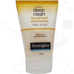 Neutrogena Deep Clean Blackhead Eliminating Daily Scrub 100 gm With Ayur Lotion 50 ml