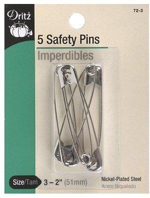 Dritz Safety Pins Size 3 Nickel 5 pc