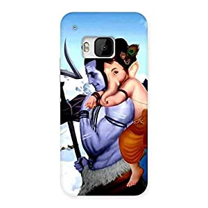 Bholenath And Ganesha Multicolor Back Case Cover for HTC One M9