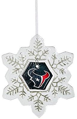 Glass Snowflake Ornament, Houston Texans