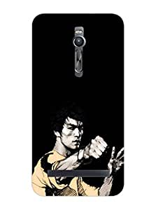 Bruce Lee - Hard Back Case Cover for Asus Zenfone 2 - Superior Matte Finish - HD Printed Cases and Covers