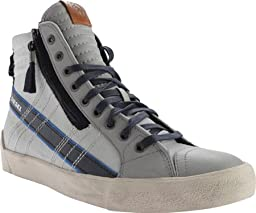 Diesel Men\'s D-Velows D-String Plus Mid Sneaker,Paloma/Silver Birch,US 7.5 M