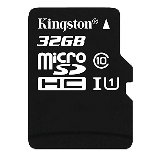 Kingston 32 GB UHS Class 1/Class10 microSDHC UHS-I Flash Memory Card (Included microSDHC to SD Adapter)