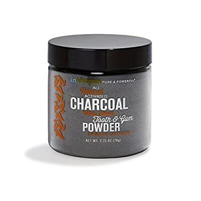 Natural Whitening Tooth & Gum Powder with Activated Charcoal, 2.75oz - Orange (*New Packaging and Flavors!*)