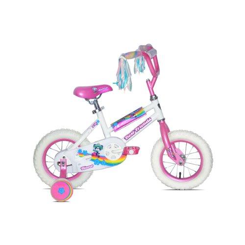 Kent Best Friends Girls Bike White (12-Inch Wheels), White/Pink