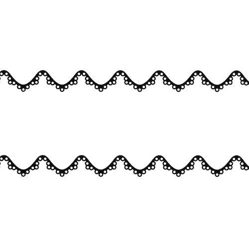 ドレスネイルシール ふんわりフェミニンレース ブラック APNSー586