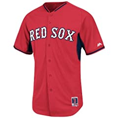 Boston Red Sox Red BP Cool Base Jersey by Majestic by Majestic