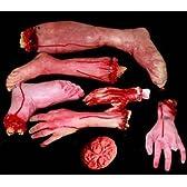 超 リアル 血の垂れる 切られた 手 足 大脳 7 個 + 害虫 茶 ムカデ 黒 ムカデ 茶羽 ゴキブリ + クリーナー キューブ セット ! ジョーク グッズ ハロウィン 肝試し お化け屋敷 にも 最適 ! <切られた手足・大脳7個&害虫セット> ハロウィン 装飾 ディスプレイ