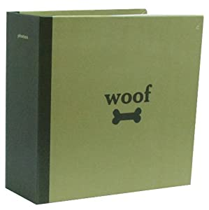 Capri PH41404-5 Pocket Photo Album with Woof and Dog Bone on the Cover, 4 by 6-Inch from AZ Home and Gifts
