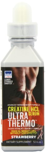 Mmusa Creatine Hcl Serum Ultra Thermo Male Diet Supplement, Strawberry, 5.1 Fluid Ounce