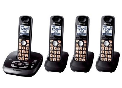 Panasonic KX-TG4034B DECT 6.0 PLUS Expandable Four Handset with Digital Answering System