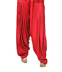Shiva Collections red cotton patiala salwar