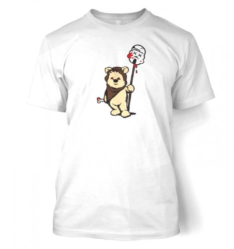 Something Geeky PP – Evil Ewok T-Shirt – Inspired By Star Wars  White