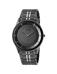 Citizen Eco-Drive Analog Black Dial Men's Watch AR3015-61E
