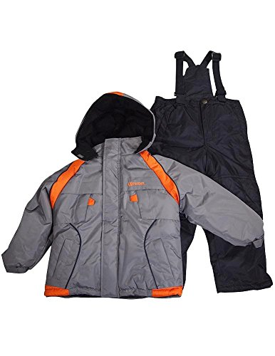 Ixtreme - Little Boys 2 Piece Snowsuit, Grey, Orange, Black 34934-5 front-737559