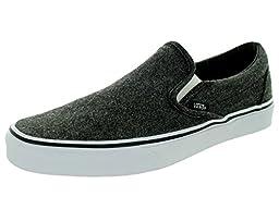 Vans Unisex Classic Slip-On Black/True White Skate Shoe 8.5 Men US / 10 Women US