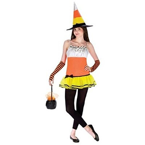 Teen Candy Corn Witch Costume Size Junior 0-9