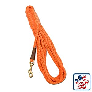 Mendota Products Pro-Trainer 30 Check Cord Dog Lead, Orange, 1/2-Inch x 30-Feet