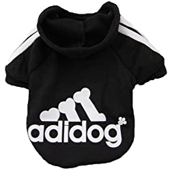 Demarkt Fashion Small Dog Cat Puppy Fleece Hoodie Costume Clothes Pet Apparel Superdog Dress Up Pet Supplies - Black Size Large