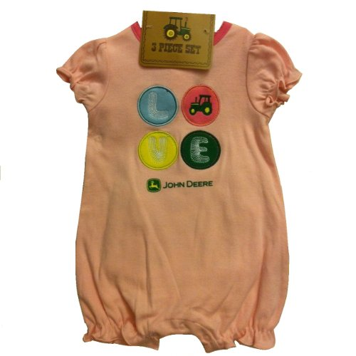 John Deere Tractor Girls Infant 3 Pc. Clothing Set ~ 0 3