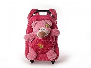 Inware 6230 - 3in1 Trolley, Zaino, Peluche per bambini, Orso rosa