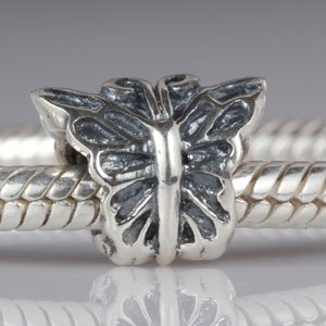 Butterfly Authentic 925 Sterling Silver Bead Fits Pandora Chamilia Biagi Troll Charms Europen Style Bracelets