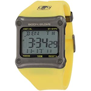 Body Glove Men's 70302 Rhyz Digital Grey and Yellow Watch