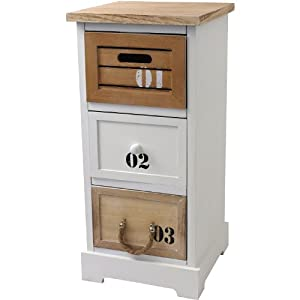 maritimer schrank kommode schubladenschrank 30x30x64 5cm badschrank badezimmerschrank. Black Bedroom Furniture Sets. Home Design Ideas