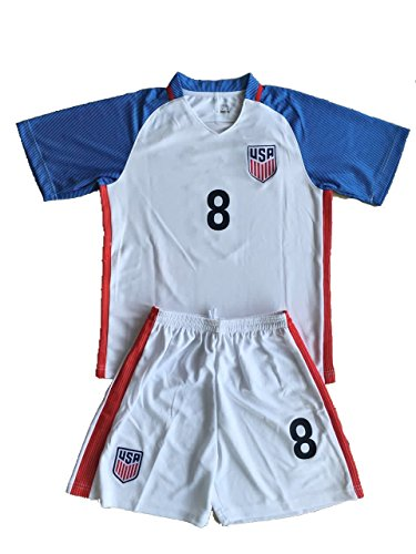 Tun-2016-2017-USA-Home-Dempsey-8-Youths-Football-Soccer-Kids-Jersey-Short