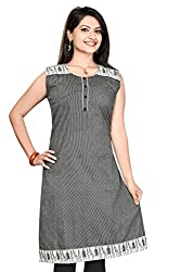 Karan Kurtis Womens Cotton Aline Kurta (Kurtis-0284-3Xl_Grey)