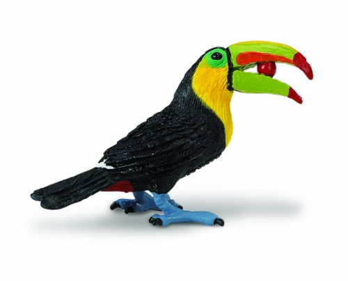 Safari Ltd Wings Of The World - Toucan - Hand Painted Toy Figurine Model - For Ages 3 And Up