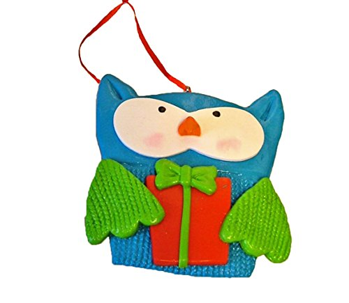 St. Nicholas Square Knitted Patchwork Owl Ornament