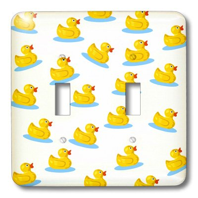 Lsp_194618_2 Florene - Décor Iii - Print Of Adorable Rubber Duckie Repeat - Light Switch Covers - Double Toggle Switch front-277277