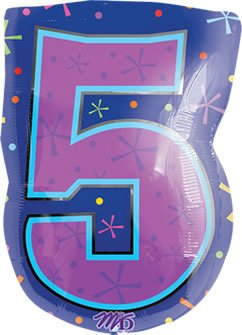 "Anagram International 1267201 Shape 5 Balloon Pack, 18"", Multicolor"