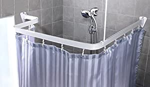 Amazon.com - Bendable Shower Curtain Rod, White Finish - Circular