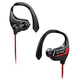 TOTU BT-2 V4.1 Bluetooth Headphones Wireless Music Stereo Sports Headset - Red