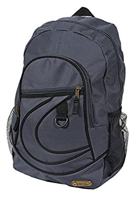 Hi-Tec Large Mens Boys Black BACKPACK RUCKSACK School or College Bag Travel