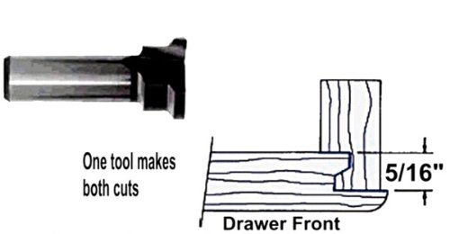 Whiteside Router Bits 1071 Straight Bit with 1//2-Inch Cutting Diameter and 2-Inch Cutting Length