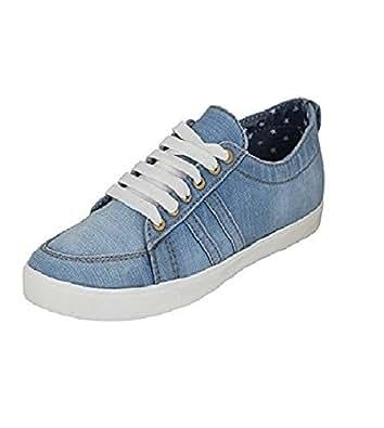 Blinder Men's Denim Jeans Navy Blue Casual Shoes (10, Sky Blue)