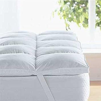 linens limited surmatelas 2 personnes en plume et duvet d 39 oie 135 x 190 cm look check. Black Bedroom Furniture Sets. Home Design Ideas