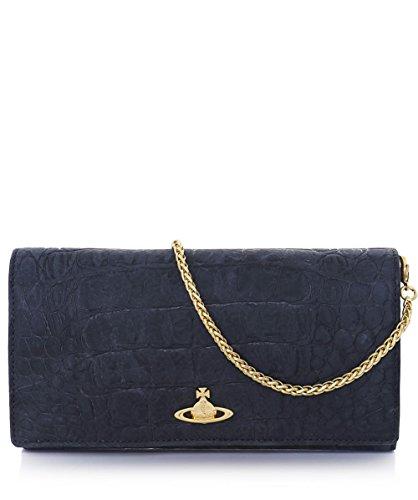 Vivienne-Westwood-Accessories-Damen-Amazonia-Leder-Clutch-Tasche-Schwarz-Ein-Gre