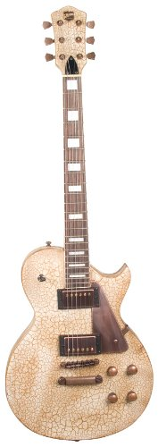 Axl Badwater Dual Pickup 1216 Electric Guitar, Crackle Brown/White
